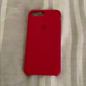 Accessories - Red apple silicone case iPhone 6/7/8 plus